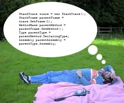 DBJ dreaming in C# while lying on green grass