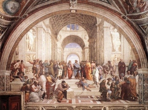 The School of Athens, Raffaello Santi (or Sanzio) aka Raphael (1483-1520).